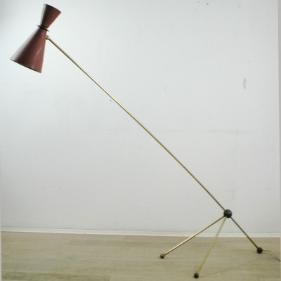 Italian Midcentury adjustable Diabolo Floor Lamp