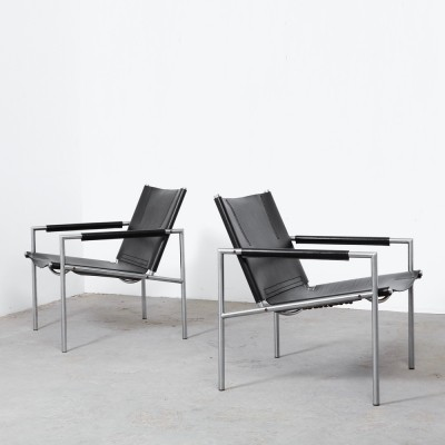 Pair of Model SZ02 lounge chairs by Martin Visser for Spectrum, 1960s