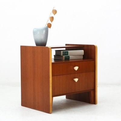 Night Stand in Walnut & Maple Wood, 1950s