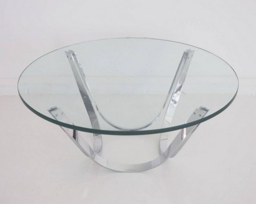 Chrome & Glass Coffee Table by Tri-Mark Designs