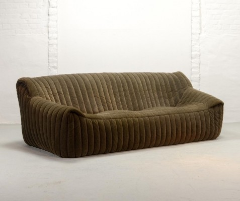 Three-Seat Sofa by Annie Hieronymus for Cinna 'Ligne Roset', France, 1977