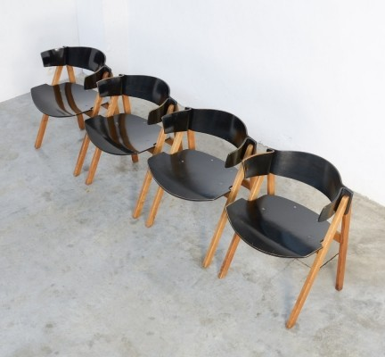 Set of 4 Modular Dining Chairs by Victor Bernt for Soren Willadsen