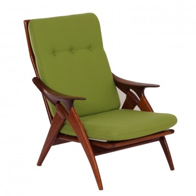Teak Easy Chair 'The Knot' by De Ster Gelderland, 1960s