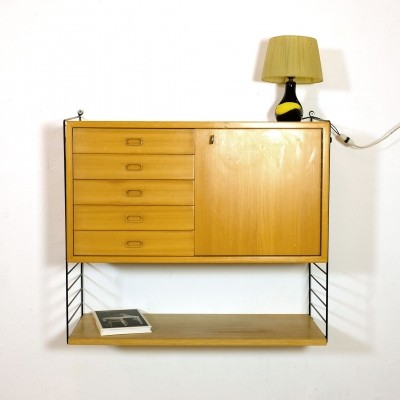 Wall unit by Nisse Strinning & Kajsa Strinning for String, 1960s