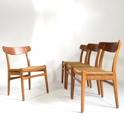 Set of 4 CH 23 dinner chairs by Hans Wegner for Carl Hansen & Son, 1950s