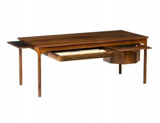 Mid-Century Modern Coffee Table with Drawers for Handicraft Materials