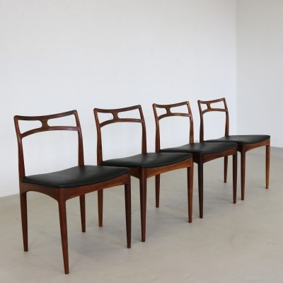 Set Of 4 Rosewood Model 94 Dining Chairs By Johannes Andersen, 1961