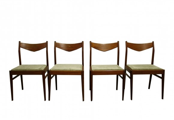 Set of four vintage Scandinavian dining chairs, 1960s