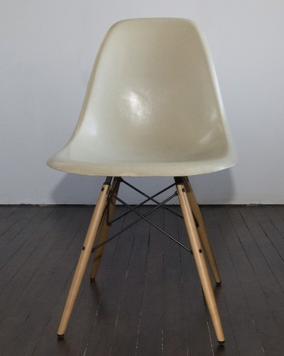 4 x Fiberglass DSW chair by Charles & Ray Eames for Herman Miller, 1960s