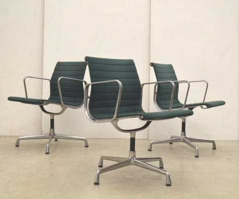6 x EA108 office chair by Charles & Ray Eames for Vitra, 1990s
