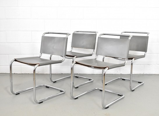 Set of 4 Spoleto dining chairs by Knoll, 1970s