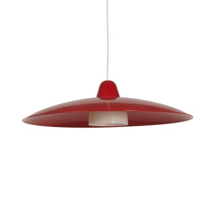 Red Vintage Hanging Lamp by Philips, 1960