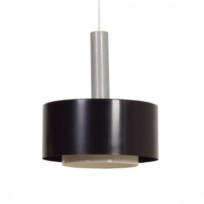 Black Hanging Lamp by Hiemstra Evolux, 1960s