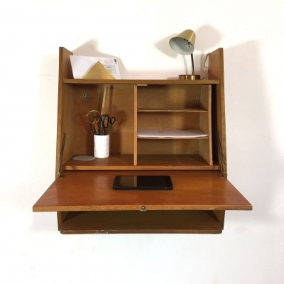 Writing desk wall unit, 1950s
