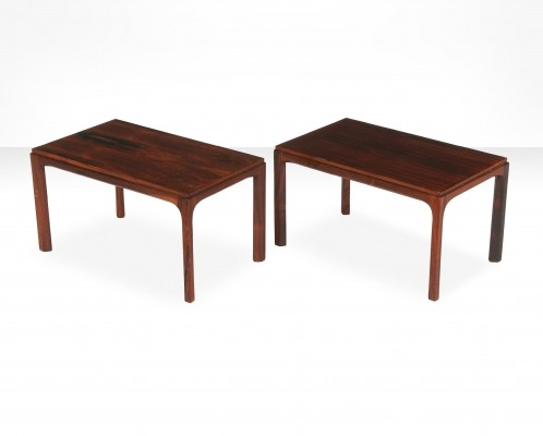 Pair of Kai Kristiansen rectangular side tables, Denmark 1960s