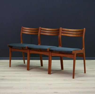 Set of 3 dining chairs by Johannes Andersen for Uldum Møbelfabrik, 1960s