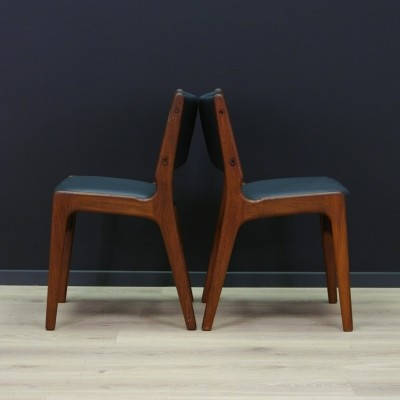 Pair of dinner chairs by Johannes Andersen for Uldum Møbelfabrik, 1960s