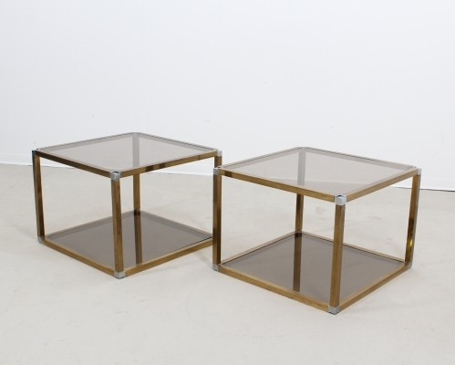 Pair of Roméo Rega coffee tables, 1970s