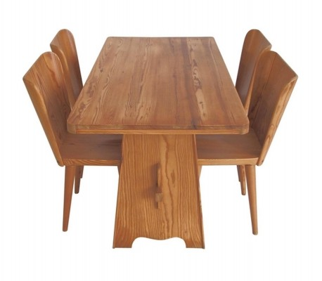 Goran Malmvall Dining Table & Four Chairs by Karl Andersson & Soner
