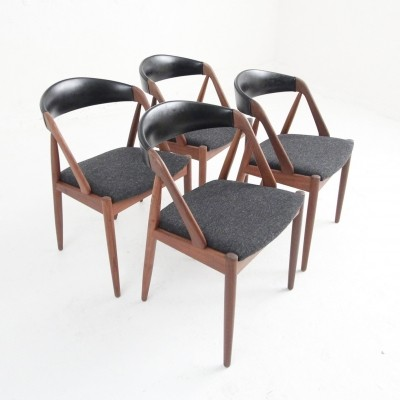 Set of 4 Model 31 dinner chairs by Kai Kristiansen for Schou Andersen SVA Møbler, 1950s
