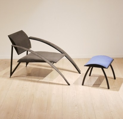 Lounge chair by Jean Louis Godivier for UP8, 1980s