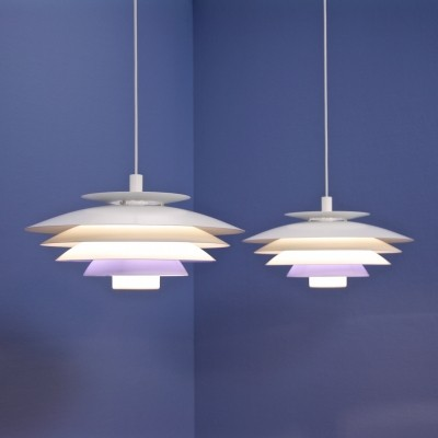 Pair of Form Light hanging lamps, 1960s
