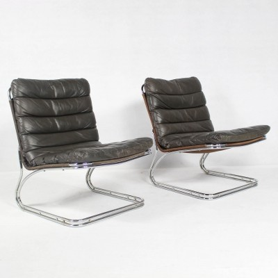 Pair of Danish Lounge Chairs by Georg Thams for Vejen Polstermøbelfabrik, 1960s