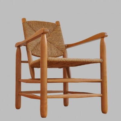 Charlotte Perriand arm chair, 1950s