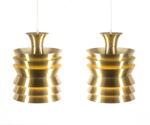 Pair of hanging lamps by Carl Thore for Granhaga, 1960s