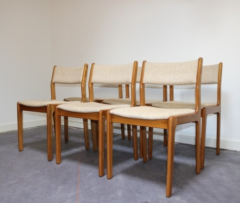 Set of 6 dinner chairs by Erik Buch for Findahls Møbelfabrik, 1960s