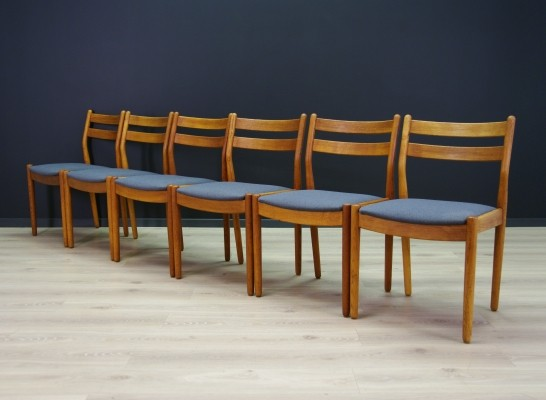 Set of 6 Poul Volther dining chairs, 1960s