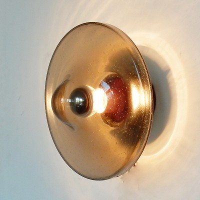 Single glass wall sconce by Rosdala