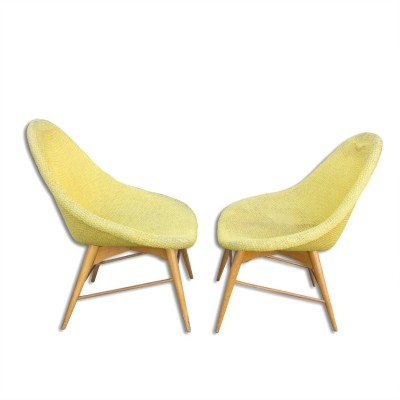 Pair of Miroslav Navrátil lounge chairs, 1950s