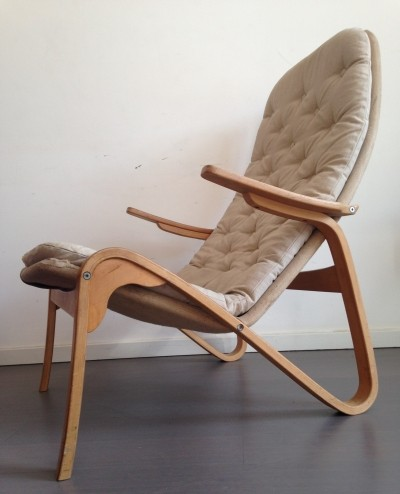 Grasshopper lounge chair by Bruno Mathsson for Dux, 1970s