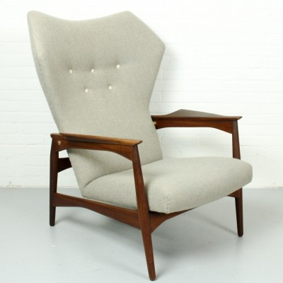 Danish Ib Kofod-Larsen Reclining Lounge Chair, 1960s