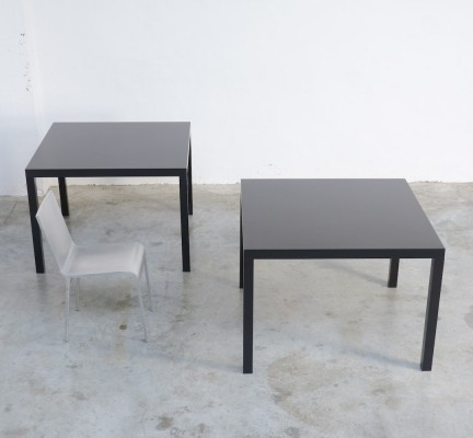 Square Table T88A – Black Edition – by Maarten Van Severen for Top-Mouton, 1990s