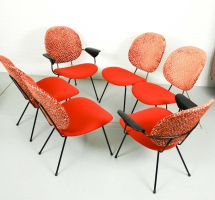 W.H. Gispen easy chairs 301 & 302 for KEMBO, 1950s