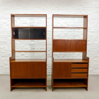 Set of Two Book Cabinets by Poul Cadovius for KLM, 1960s