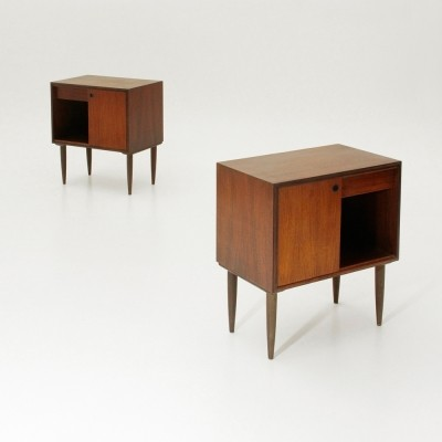 Pair of night stand cabinets, 1950s