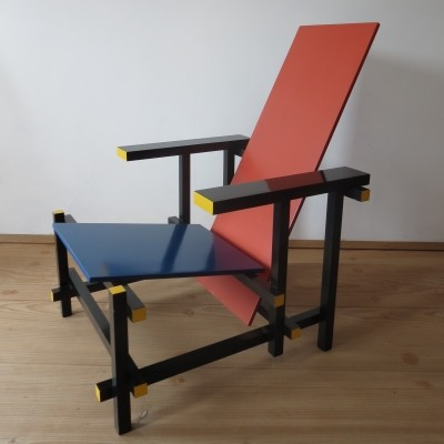 Red & Blue arm chair by Gerrit Rietveld for Cassina, 1970s