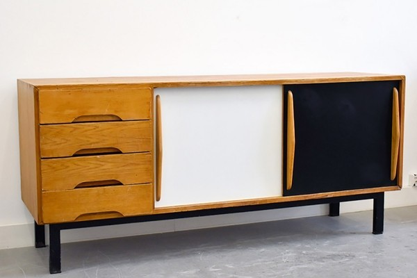 Rare Cansado sideboard by Charlotte Perriand for Steph Simon, 1958