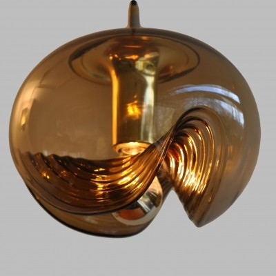 Wave hanging lamp by Peill & Putzler, 1970s