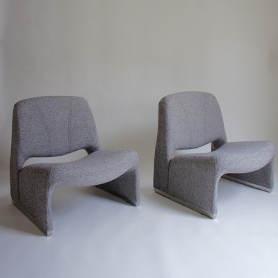 Pair of Alky lounge chairs by Giancarlo Piretti for Castelli, 1970s