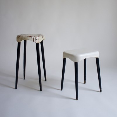 A Pair Of Plastic Press Milano Stools