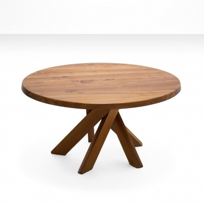 Pierre Chapo T21 Dining Table in Solid Elm, France 1960s