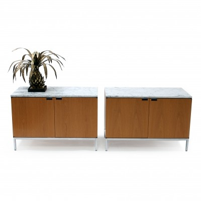 2 x Credenza sideboard by Florence Knoll for Knoll, 1960s