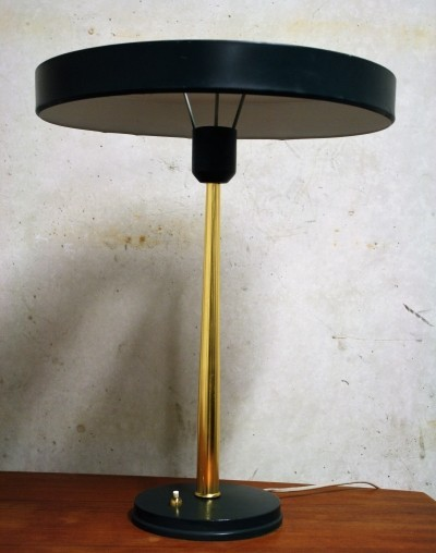 Green Mid-Century Louis Kalff for Philips Table Lamp