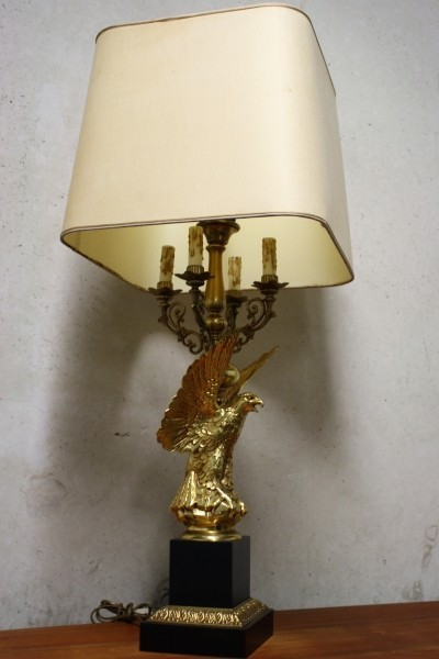 Mid-Century Hollywood Regency Eagle Lamp from Deknudt