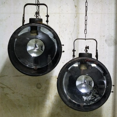 Vintage industrial spot or ship signal lamp, 1960s