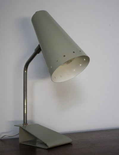 Grey Table Lamp By H. Th. A. Busquet For Hala Zeist, 1950s